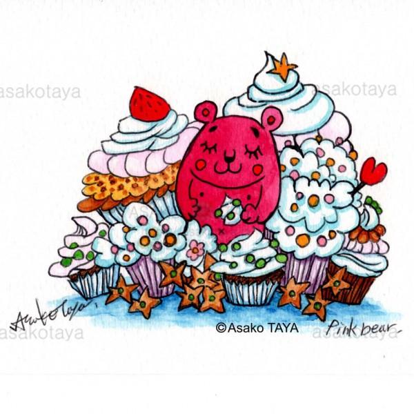 カップケーキに囲まれて
